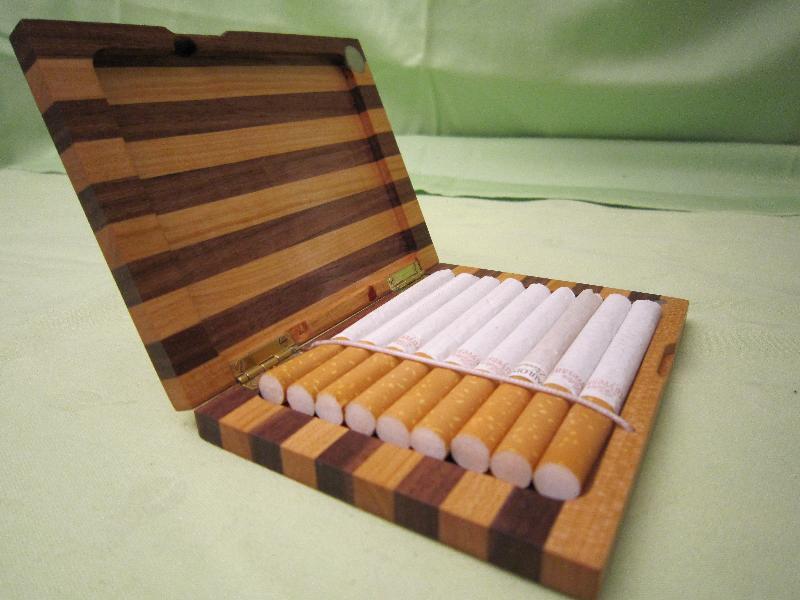 Holz Etui Für Zigaretten Oder Visitenkarten Schmuckes Aus Holz